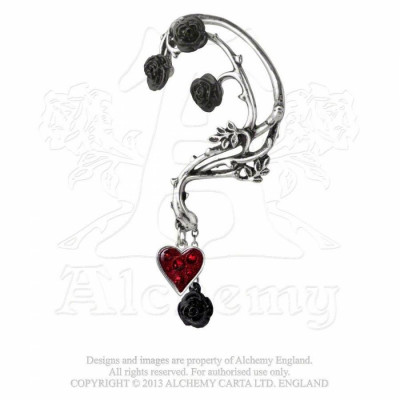 Cercel gotic tip ear cuff ?irag de trandafiri foto