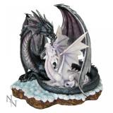 Statuetă dragon cu pui Învăţăm să zburăm - Sculptura