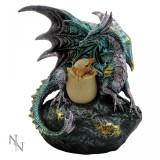 Statuetă dragon cu pui Așteptare - Sculptura