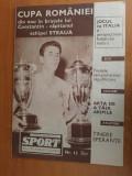 Revista sport iulie 1967-steaua a castigat cupa romaniei