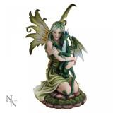 Statuetă zână și dragon prieteni înaripați - Sculptura