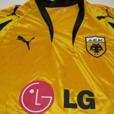 Tricou PUMA fotbal - AEK ATENA (Grecia) - Tricou echipa fotbal, Marime: XL, Culoare: Din imagine, De club, Maneca scurta