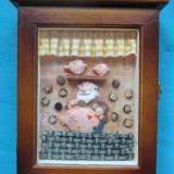Cutie chei-cadou-cutie de lemn- - Breloc Barbati
