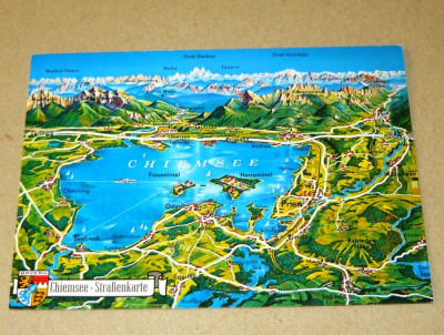 Harta Munti Lac Chiemsee Bavaria Germania 2 1 Gratis