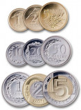 POLONIA █ SET COMPLET DE MONEDE █ 1+2+5+10+20+50 Groszy 1+2+5 Zlotych █ 2015 UNC, Europa