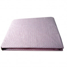 Cearceaf bumbac imprimat cu elastic SCHIMBUL 3 - Roz, 70x140 cm - Masa de infasat copii