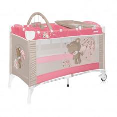 Patut pliant LORELLI CLASSIC Arena 2 Plus - Pink Bear - Patut pliant bebelusi Lorelli, Roz