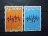 SAN MARINO 1972 - EUROPA CEPT, serie nestampilata AD2, Nestampilat