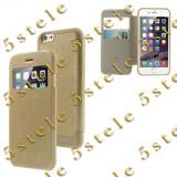 "Husa Mercury WOW Bumper Apple iPhone 6 Plus 5,5"" Gold Blister, Auriu, Piele Ecologica"