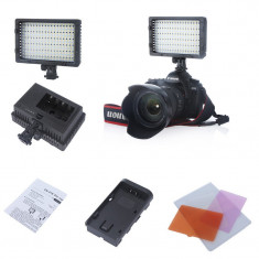 Lampa Foto - video cu Led model CN-216 cu 3 fete interschimbabile - Lampa Camera Video