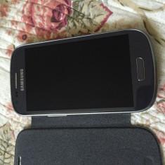 Vand Samsung S3 mini impecabil - Telefon mobil Samsung Galaxy S3 Mini, Albastru, 8GB, Neblocat
