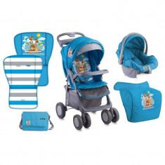 Carucior 2 in 1 LORELLI CLASSIC Foxy - Blue Adventure - Carucior copii 2 in 1