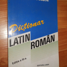DICTIONAR LATIN - ROMAN - VOICHITA IONESCU lider