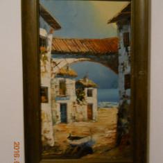 Trei picturi cu peisaje meridionale, ulei/panza,2buc.41x24cm.,1buc.27x35cm.