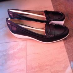 Pantofi piele naturala, mocasini,  marca Geox  NOI, marimea 39 talpa ortopedica