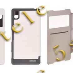 Husa Mercury WOW Bumper Samsung i9500 Galaxy S4 Alb Blister - Husa Telefon, Samsung Galaxy S4, Piele Ecologica, Cu clapeta