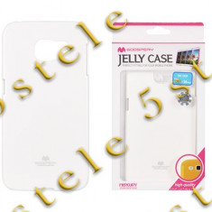 Husa Mercury Jelly Samsung G925 Galaxy S6 Edge Alb Blister