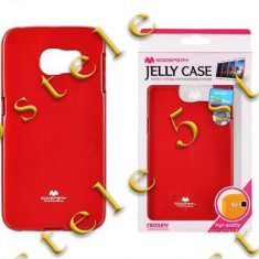 Husa Mercury Jelly Samsung G925 Galaxy S6 Edge Rosu Blister