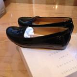 Pantofi mocasini Geox Respira piele naturala lacuita NOI marimea 39
