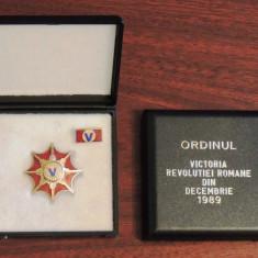ORDINUL VICTORIA REVOLUTIEI ROMANE DIN DECEMBRIE 1989 + CUTIE