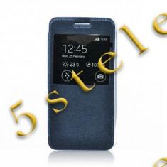 Husa Flip Carte S-View Etui Sams G388 Galaxy Xcover3 Blue - Husa Telefon, Albastru
