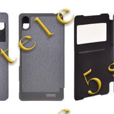 Husa Mercury WOW Bumper Samsung i9500 Galaxy S4 Gri Blister - Husa Telefon, Samsung Galaxy S4, Piele Ecologica, Cu clapeta