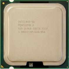 Procesor dual core LGA 775 3 GHz FSB 800 Pentium D 925 - Procesor PC Intel, Intel, Intel Pentium Dual Core, Numar nuclee: 2, 2.5-3.0 GHz
