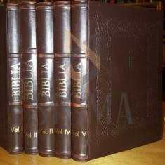 D.D. FILOTEIU - BIBLIA, SAU TESTAMENTU VECHIU SI NOU, 5 TOMURI, BUZAU - Carti Istoria bisericii