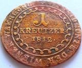 Moneda Austro-Ungaria 1 Kreutzer - literaB, Kormoczbanya 1812 *cod 3248