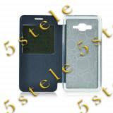 Husa Flip Carte S-View Etui Mic Lumia 640 XL Albastru, Alt model telefon Nokia, Vinyl
