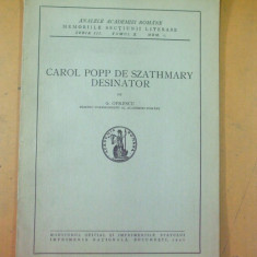 Carol Popp de Szathmary desenator G. Oprescu Bucuresti 1941 - Carte veche