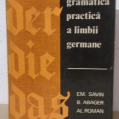 GRAMATICA PRACTICA A LIMBII GERMANE-EM.SAVIN - Carte Literatura Germana