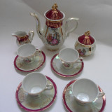 Set cafea 4 persoane, portelan, FRAGONARD, Made in JAPAN - C1