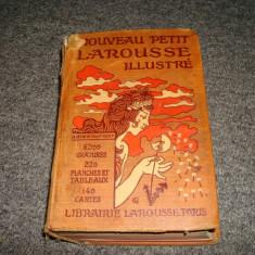 Dictionar francez, Nouveau petit Larousse illustre anul 1931, complet/colectie - Dictionar ilustrat
