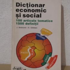 DICTIONAR ECONOMIC SI SOCIAL