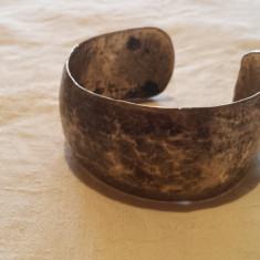 Bratara argint TRIBALA afghana Lata reglabila MASIVA vintage VECHE superba rara