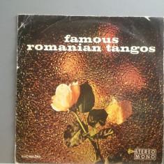 FAMOUS ROMANIAN TANGOS (EDE 0779/ELECTRECORD) - VINIL/Stare Buna - Muzica Dance