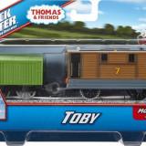 Trenulet locomotiva motorizata Toby cu vagon - Thomas&Friends Track Master
