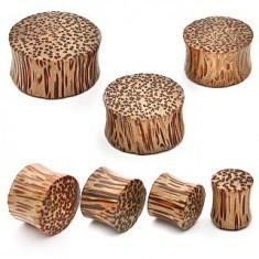 Plug din lemn de nucă de cocos, în formă de şa - Piercing ureche