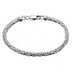 Brățară argint 925 - model bizantin oblic - Lantisor argint