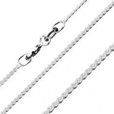 Lănțișor argint 925 - linie în S, 1, 2 mm