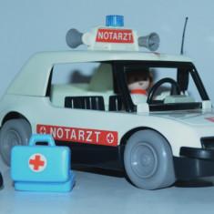 Masinuta plastic Playmobile Salvare cu accesorii Geobra - 1976 - Jucarie de colectie