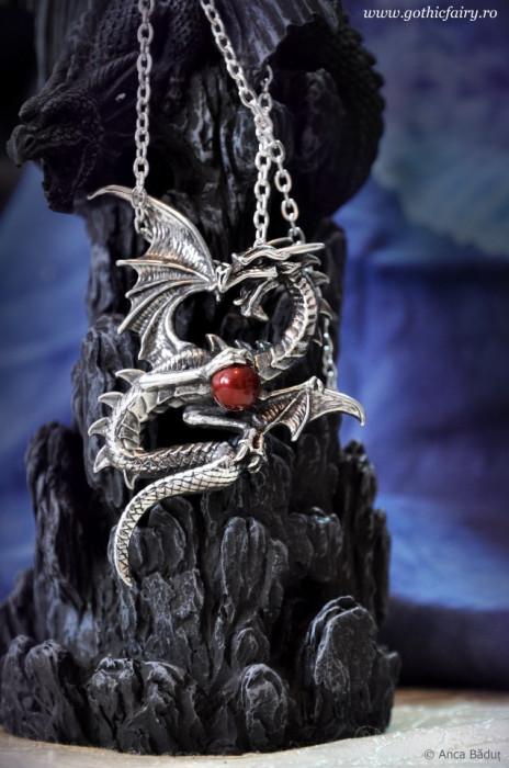 Pandantiv dragon Aethera Draconem foto mare