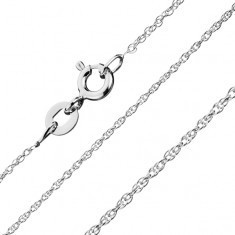 Lănțișor argint 925 - linie răsucită de mici ochiuri, 1 mm