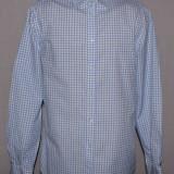 Camasa barbati H&M HM alba cu carouri albastre slim fit marimea M