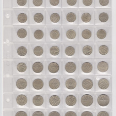 Rusia-URSS   lot 48 monede in folie standart  OPTIMA  ani diferiti 10k15k20k