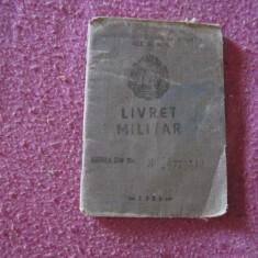 Livret militar rsr gradul militar plutonier anul 1980 c1