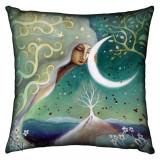 Pernă decorativă Pământ și lună