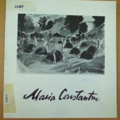 Maria Constantin acuarela desen expozitie Bucuresti 1974 Simeza