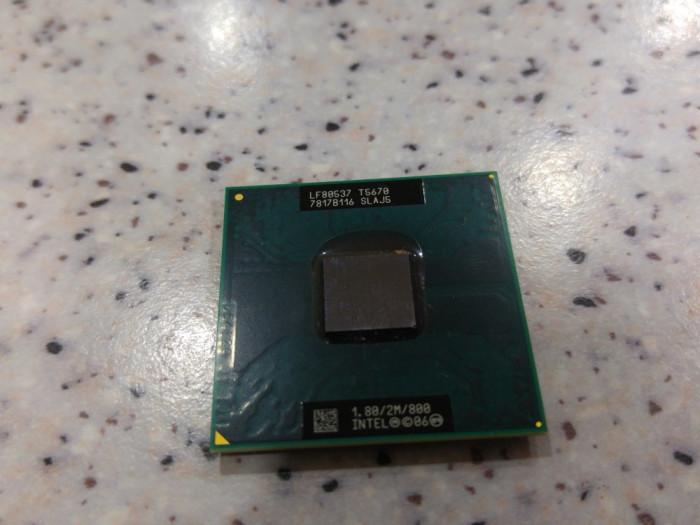 Procesor laptop intel core 2 duo T5670 , 1.80Ghz , 2Mb , 800Mhz , socket P